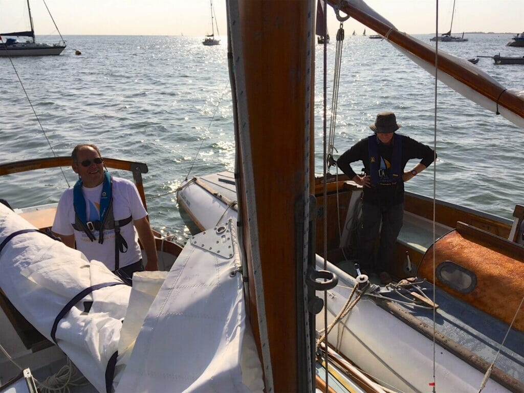 2018 West Mersea Race Morning - Banter with A102 and A124