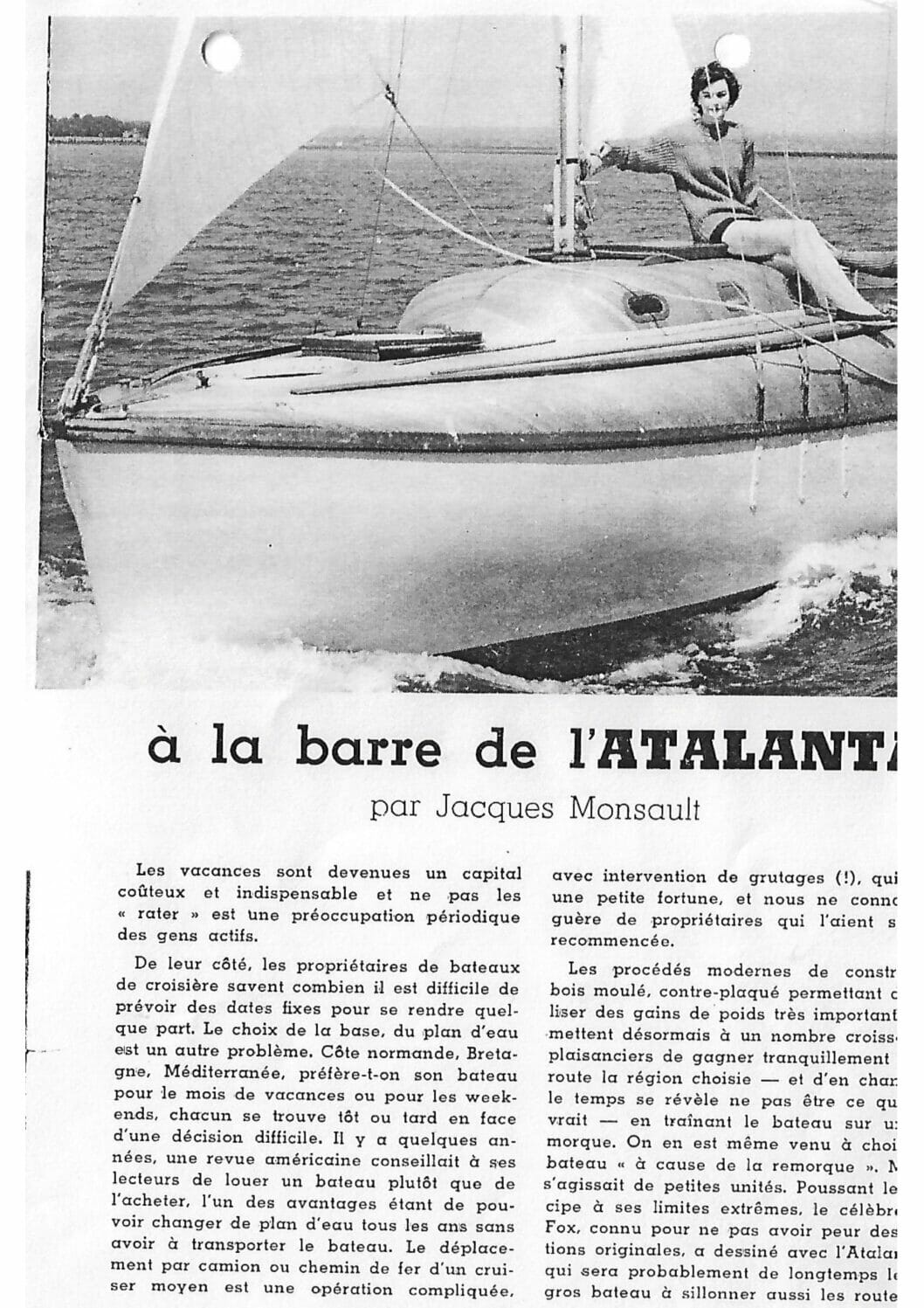 A26 1960ish Fairey Marine French PR Article