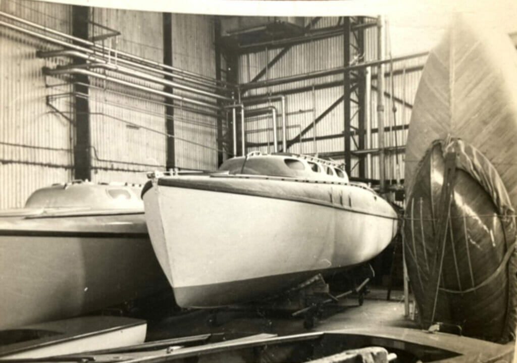 T10 Calista in the factory 1962, nearly ready for her new owner.