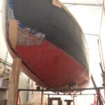 Trailer Removed and Boat Re-lowered