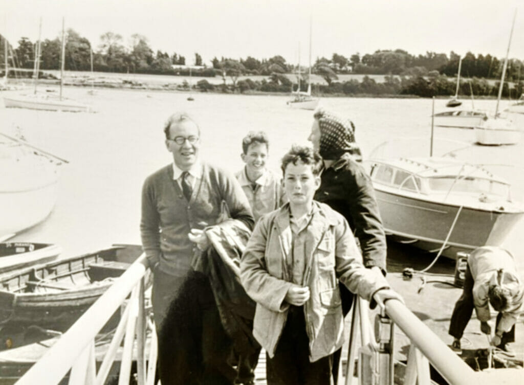 Calista's first owners at Hamble