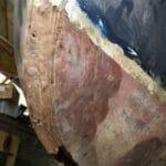 Stem capping strip repair- rot in forward part of keel
