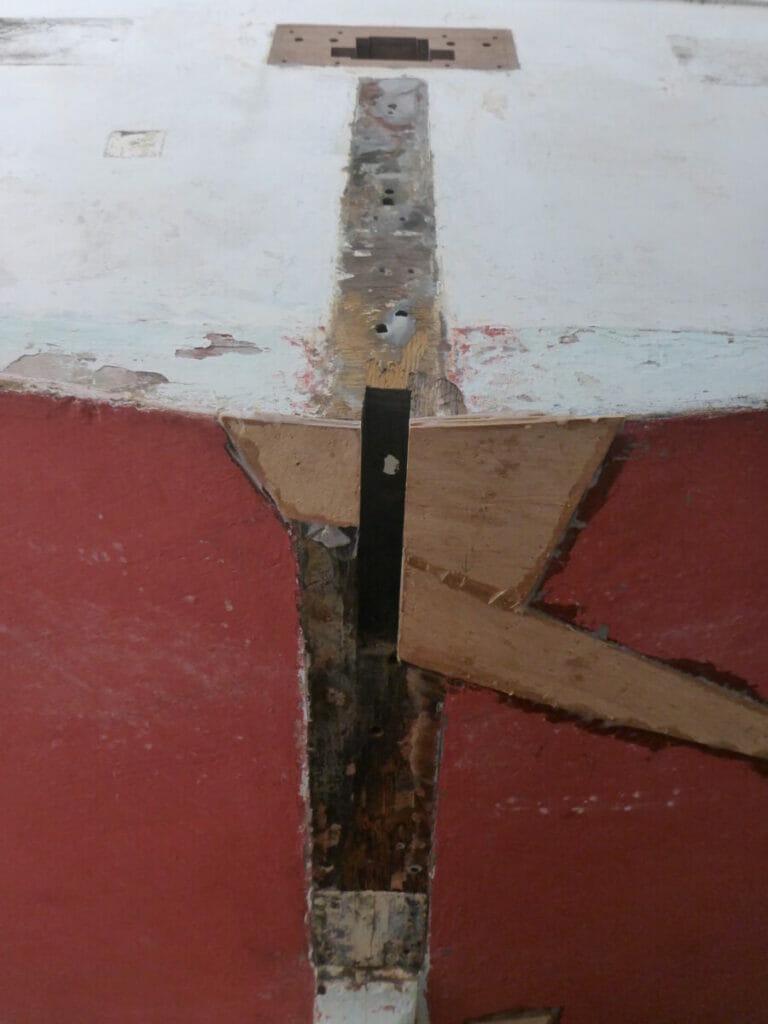 Repairs Around the Rudder Skeg