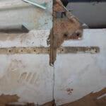 Deck Laminates Joint on Starboard Quarter