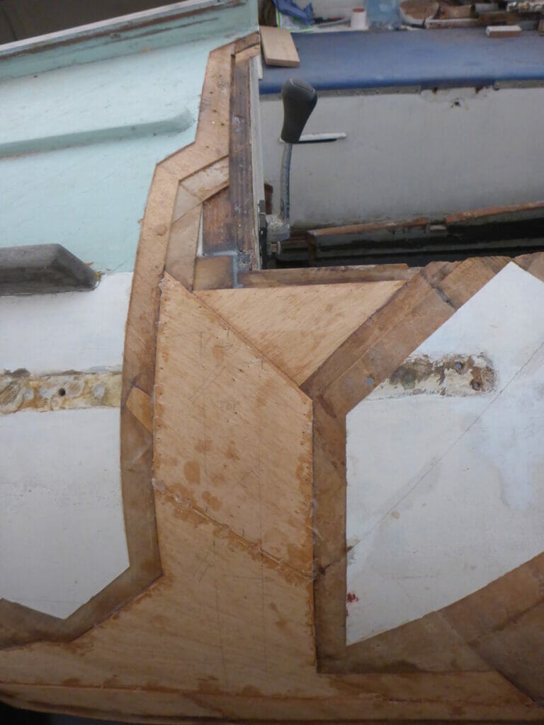 The second laminate layer back in the deck