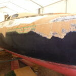 Final Repairs Under the Starboard Rubbing Strake