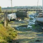 The slipway and creek