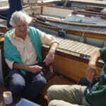 Alistair Currey visited. His father was Charles, olympic sailor and lynch pin of Fairey Marine